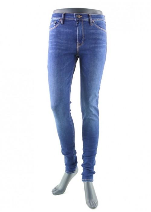 Mädchen Jeans High Waist Sophia Bright Blue