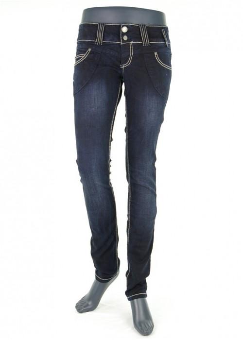 Lisa Ally Super Skinny Jeans Mädchen Dunkelblau