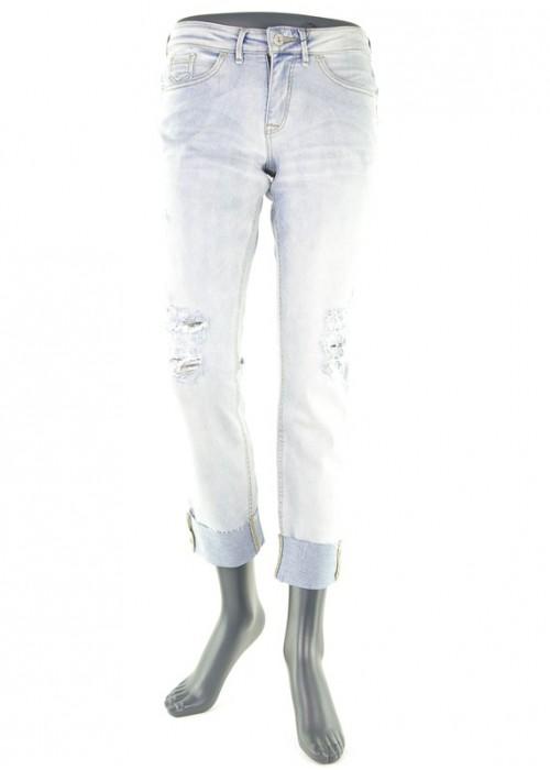 Bseda Casual Jeans Bleached Blue Denim enge Jeans Mädchen