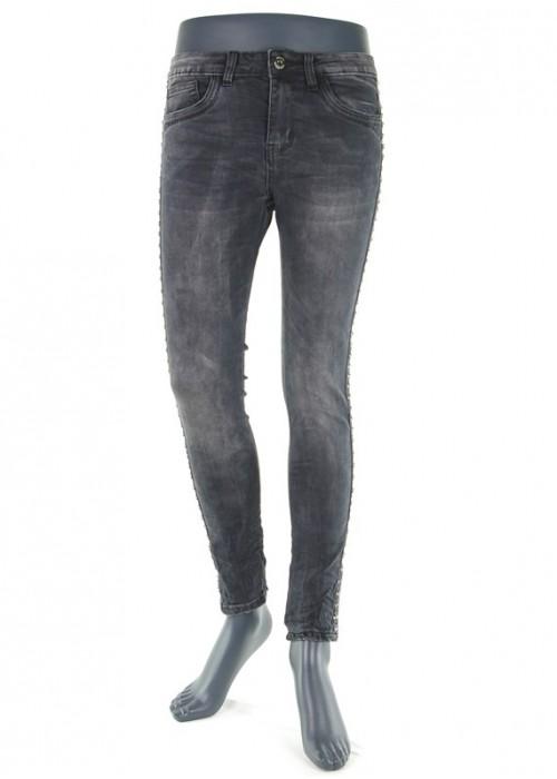 Hailys Lonie Dark Grey Mädchen enge Jeans