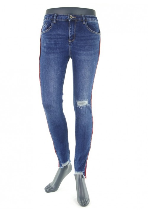 Tara Blue Crack Denim
