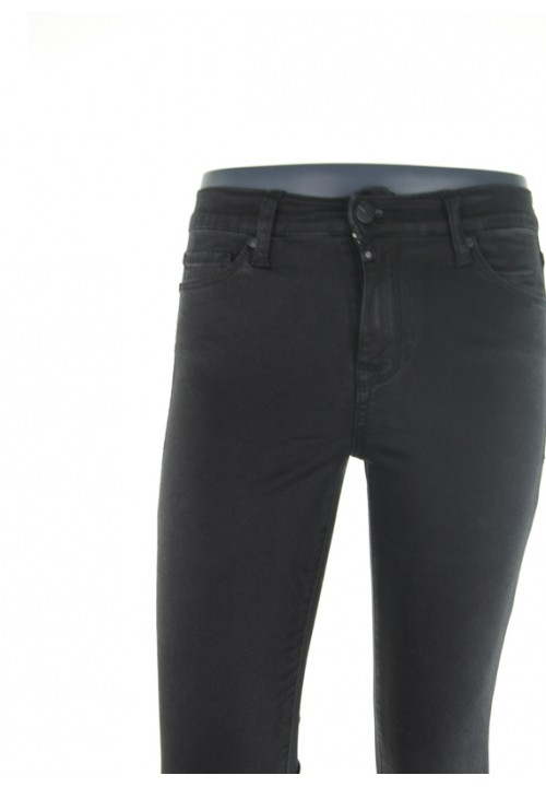 Sophia Satin Black Denim