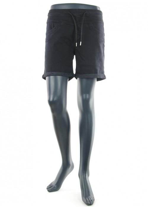 Anna Color Black Jogging Short