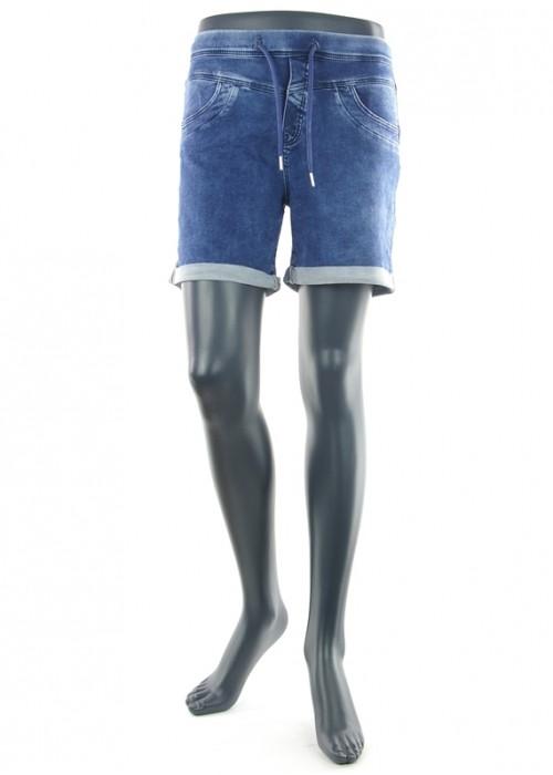 Anna Color Blue Denim Jogging Short