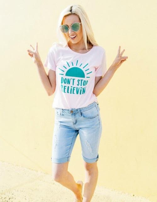 Bermuda Jeans Shorts Mädchen