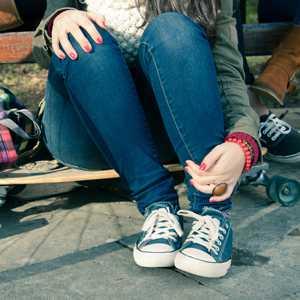 enge Jeans für Mädchen