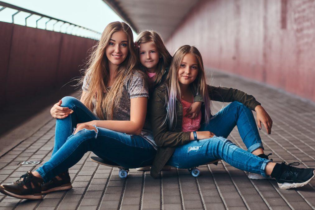 High Waist Jeans Mädchen
